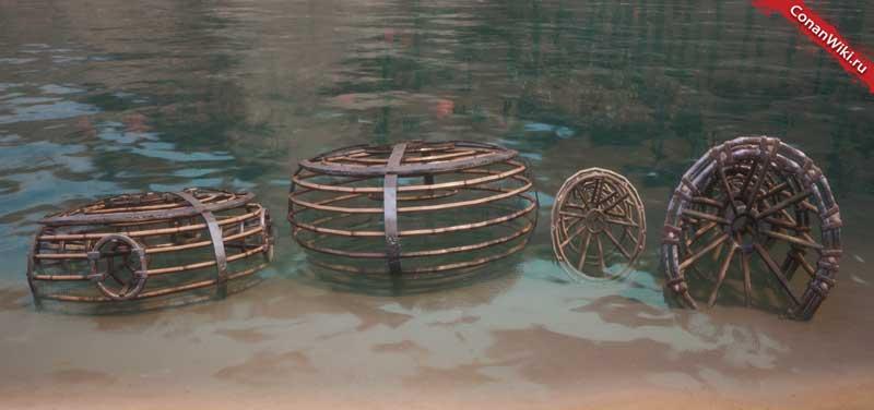 Ловушки для рыбы и моллюсков