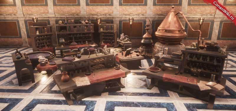 Столы алхимика-