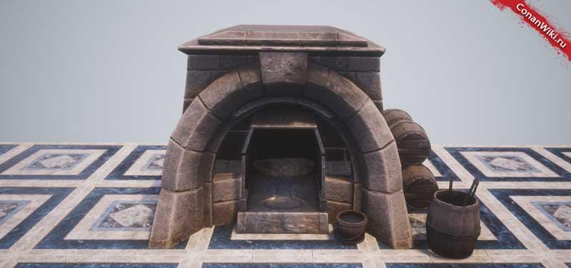 Теплоёмкая печь-
